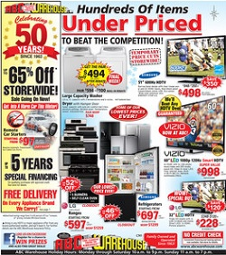 ABC Warehouse Pre-Black Friday 2013 Sales. Up To 65% Off Storewide