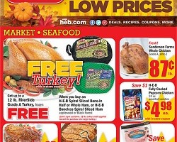 HEB Pre-Black Friday Ad 2013. Festival of Low Prices