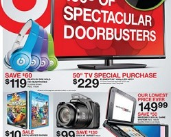 Target Black Friday Ad Preview – November 28 – November 30, 2013. 50″ Special Sale