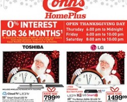 "Conn's Black Friday Deals 2013 – Sony 55"" Ultra HD LED TV, Xperia Tablet Z"