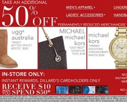 Dillard's Black Friday Deals 2013 – Take an Additional 50% OFF