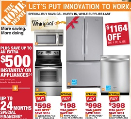 Home Depot Early Black Friday Deals Whirlpool French Door Refrigerator