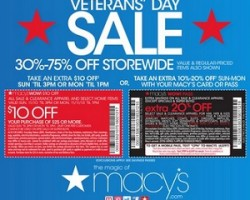 Macy's Veterans' Day Sale – 60% OFF Topcoats & Raincoats