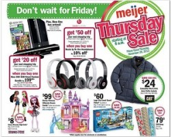 Meijer Pre-Black Friday Deals 2013. November 28 – Thanksgiving Day Sale