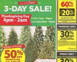 michaels black friday 2013 ad november 28 november 30 - Black Friday Deals On Christmas Trees