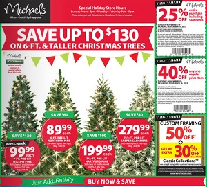 michaels pre black friday deals 2013 christmas trees sale - Christmas Tree Black Friday