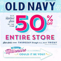 Old Navy Black Friday 2013 Deals – 50% OFF Storewide, Wool-Blend Peacoats
