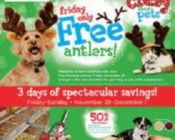 Petco Black Friday Deals – Free Pet Antlers and 50% OFF your Purchase