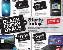 Staples Black Friday 2013 Ad