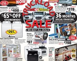 ABC Warehouse Weekly Deals. Panasonic 600Hz HDTV or Amana Super Capacity Washer or Dryer