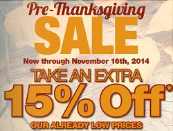 Boscov's Pre-Thanksgiving Day 2014 Sale. Extra 15% Off Discount