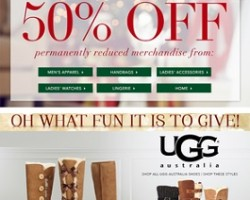 Dillard's Black Friday 2014 Ad Sales. Additional 50% Off Reduced Merchandise