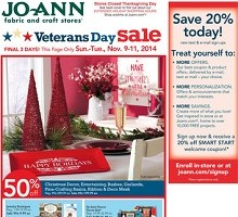 Joann Fabrics Black Friday 2014