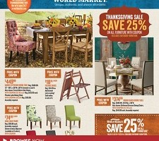 World Market Pre Black Friday 2014 Sales. Thansgiving Day Specials