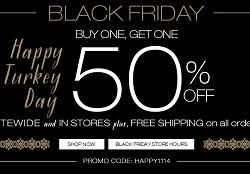 Maurices Black Friday 2014 Sale – Buy One Get One 50% OFF