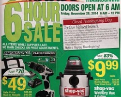 Menards Black Friday 2014 Ad Sale – Shop Vac Wet/Dry 5-gal Vacuum