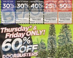 Michaels Black Friday 2014 Ad Deals – Pre-Lit Hillside Pine Tree Sale!