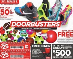 Sports Authority Black Friday 2014 Ad Deals – Footwear B1G1 50% OFF