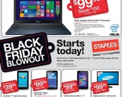 Staples Black Friday 2014 Ad – Asus Laptop w/ Intel Processor