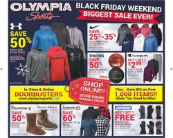 Olympia Sports Black Friday Sale Ad & Deals