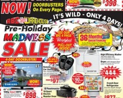 ABC Warehouse Pre-Black Friday Sale Ad 2015