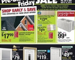 Menards Pre-Black Friday Sale 2015