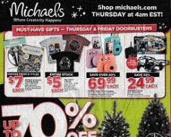 Michaels Black Friday Ad 2015
