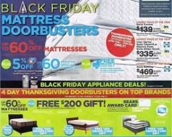 Sears Black Friday Mattress Ad 2015