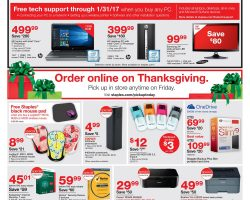 Staples Black Friday Ad 2016