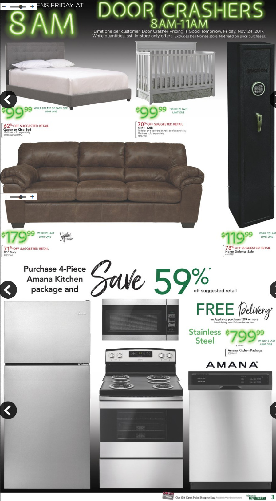 Find Nebraska Furniture Mart Pre Black Friday 2017 Deals, Offers And Door  Busters.