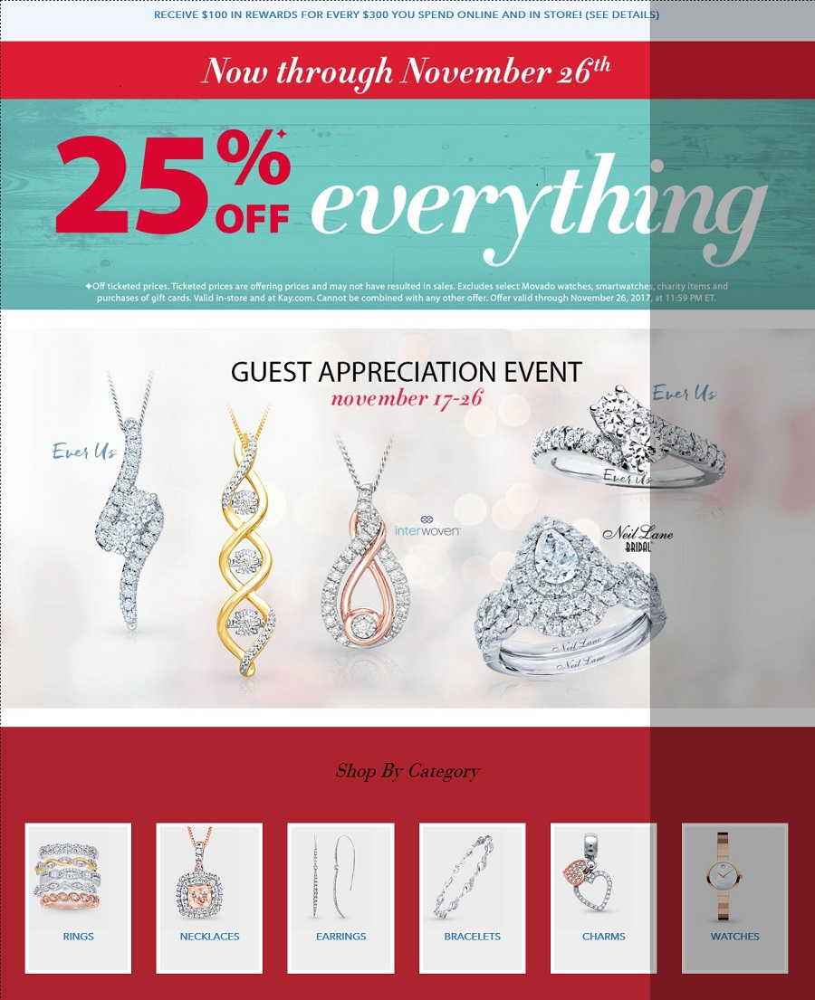 Kay Jewelers Black Friday Sale 2017