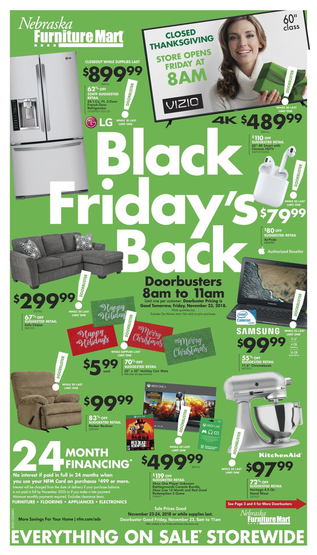 Nebraska Furniture Mart Black Friday Ad 2018
